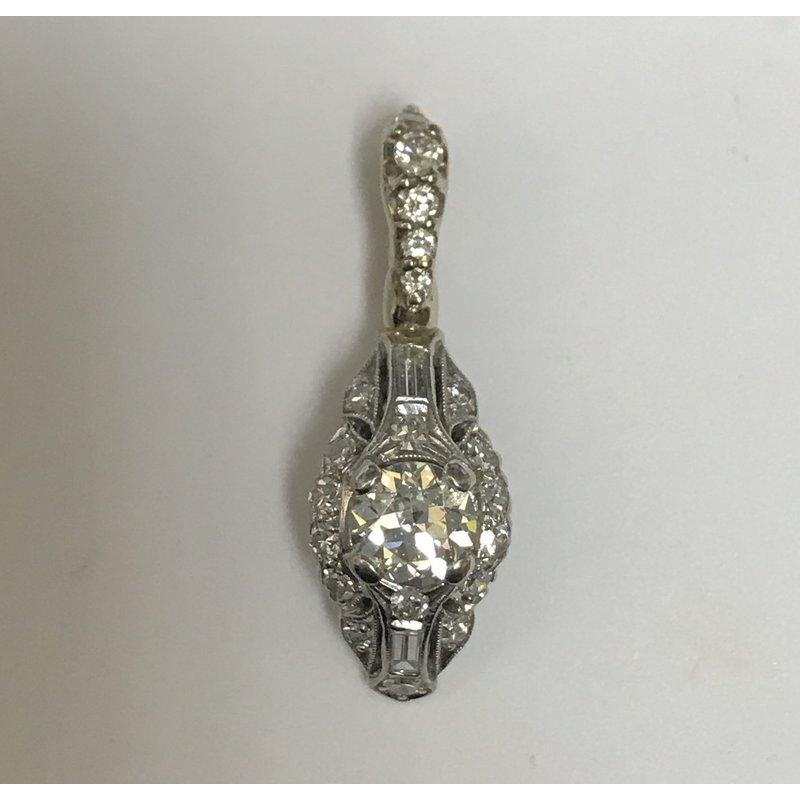 Antique, Estate & Consignment Platinum & 14k Diamond Enhancer Pendant