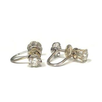 Non-Pierced Diamond Earrings