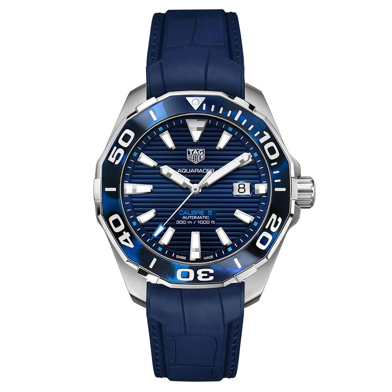 TAG Heuer Aquaracer with Blue Rubber Strap