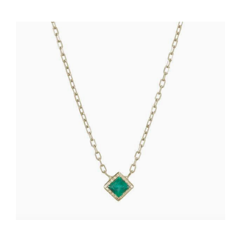 Jennie Kwon Princess Cut Emerald Necklace