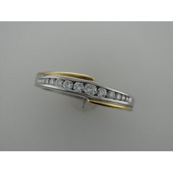 Two Tone Diamond Wedding Band