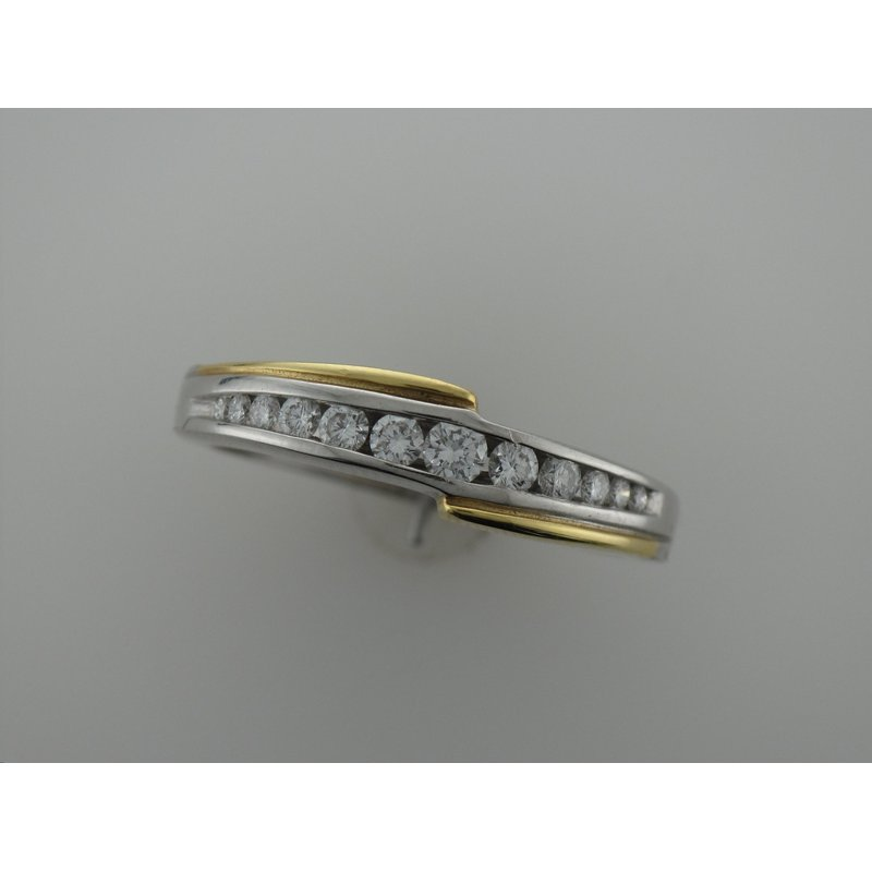 Antique, Estate & Consignment Two Tone Diamond Wedding Band