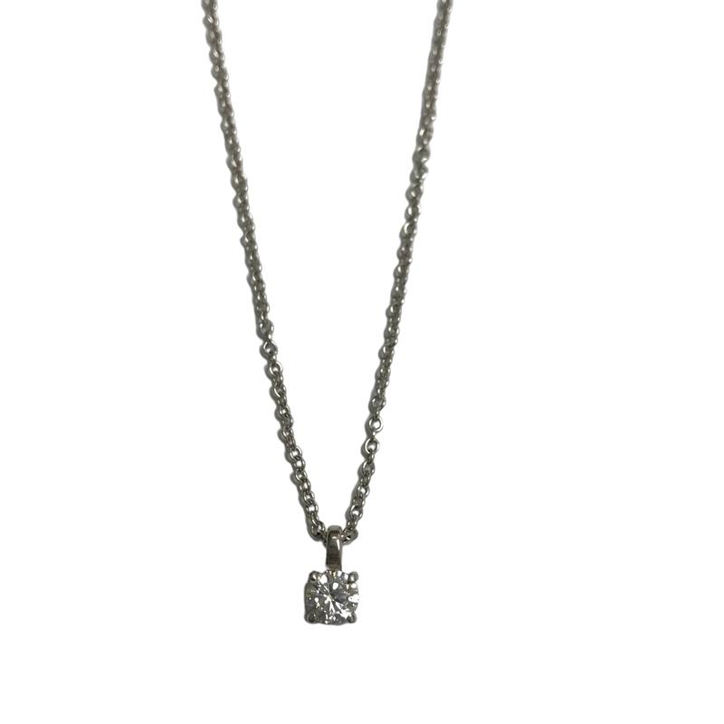 Antique, Estate & Consignment 0.50 Carat Diamond Solitaire Necklace