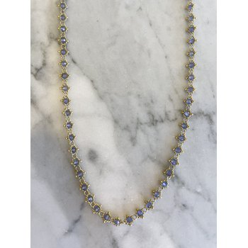 Tanzanite Textile Necklace