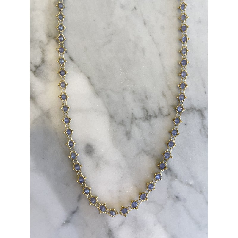 Amali Tanzanite Textile Necklace