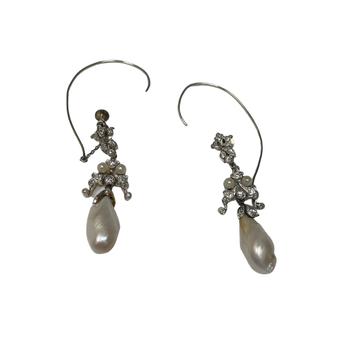 Pearl & Diamond Vintage Earrings
