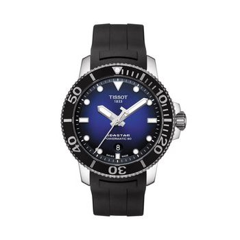 Seastar 1000 Powermatic 80 Blue Dial Rubber Strap