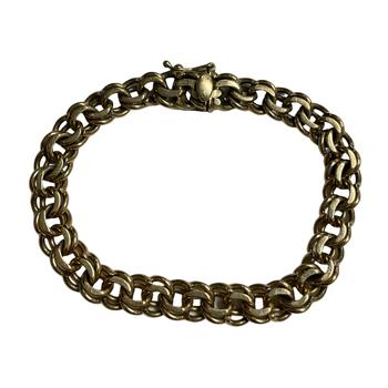 14k Double Link Bracelet
