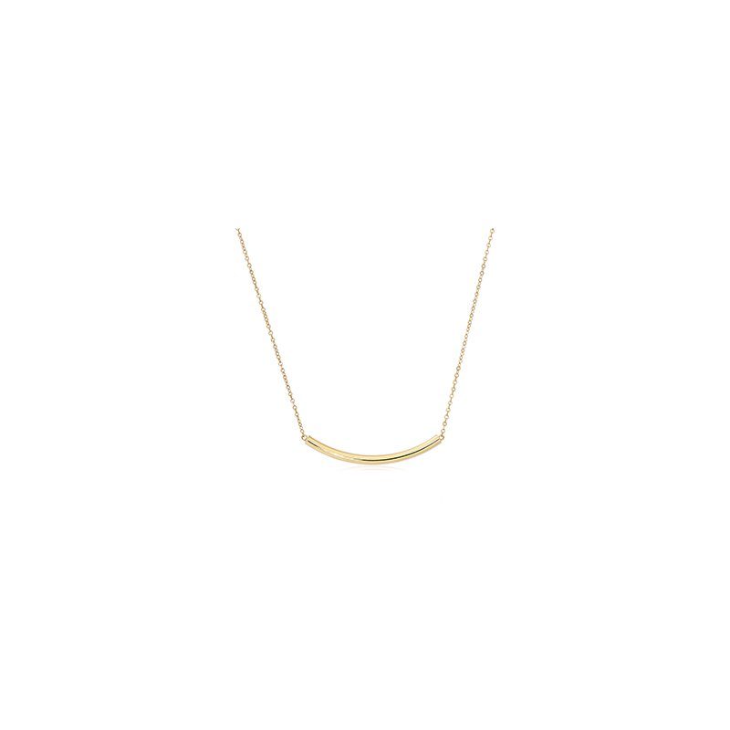 Carla Nancy B Curved Tube Gold Necklace