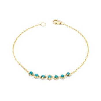 Petite Textile Bracelet in Turquoise