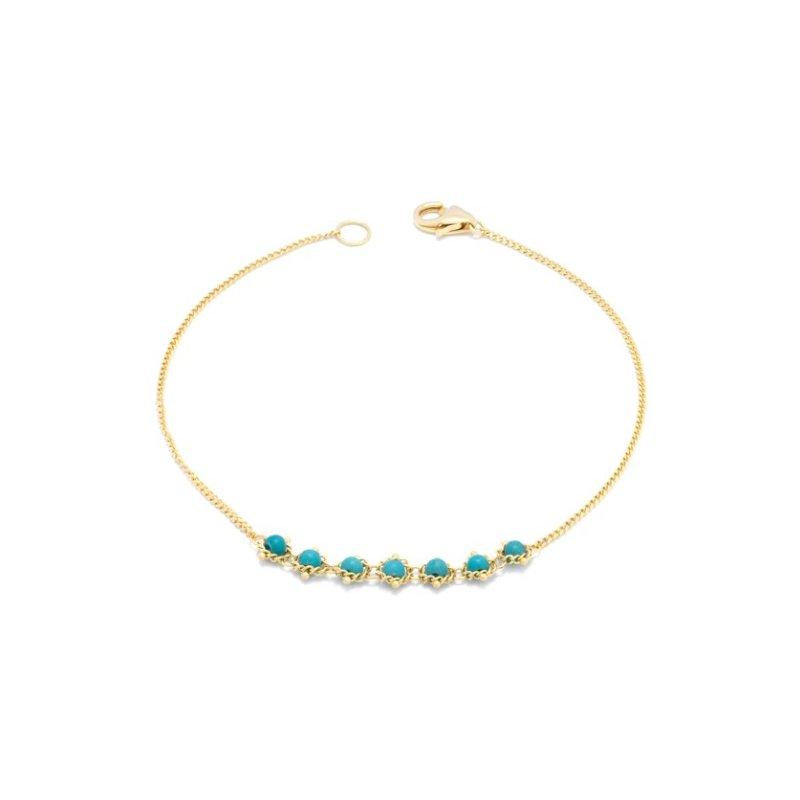 Amali Petite Textile Bracelet in Turquoise