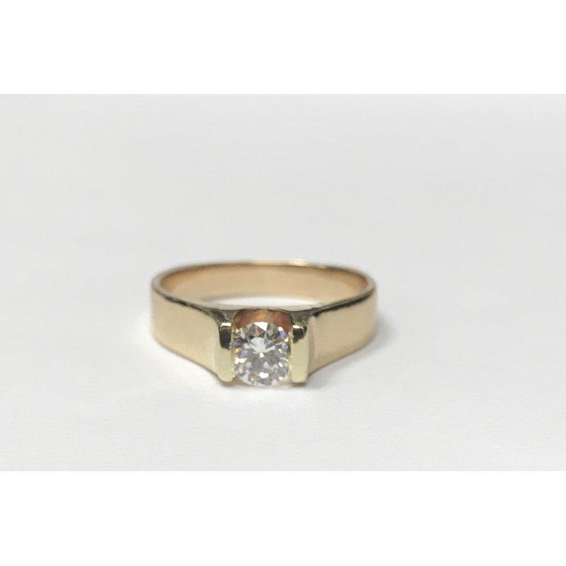 Antique, Estate & Consignment Diamond Split Bezel Engagement Ring