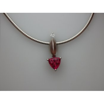 Paul Klecka Pink Tourmaline Necklace