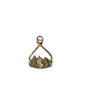 Flatiron Pendant - Gold Small