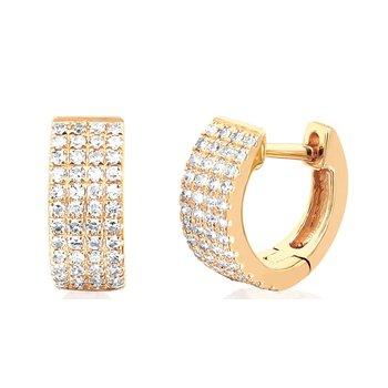 Diamond Jumbo Huggie Earring