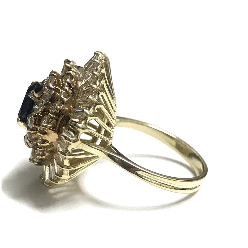 Antique, Estate & Consignment Sapphire & Diamond Ballerina Ring