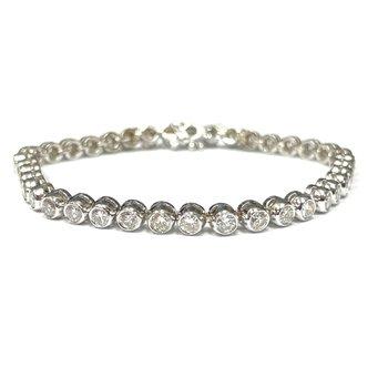 Bezel Set Diamond Bracelet