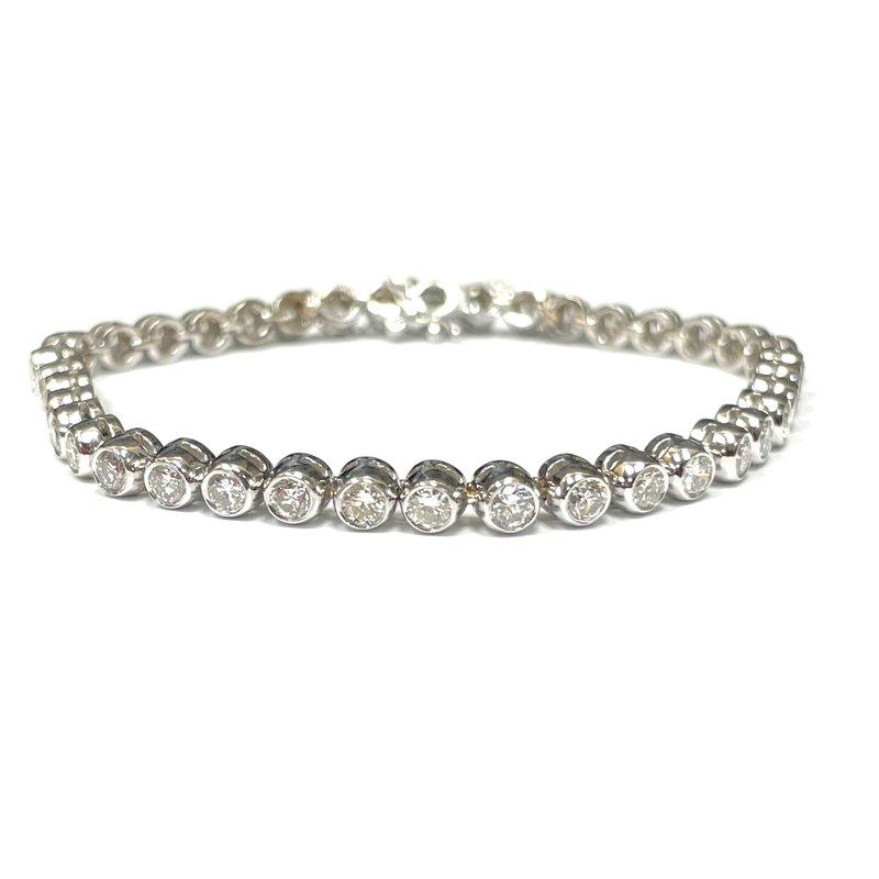 Antique, Estate & Consignment Bezel Set Diamond Bracelet