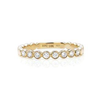 Diamond Bezel Stack Ring