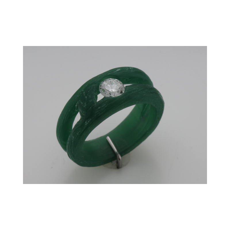 Hurdle's Custom Designs Leaf Design Diamond Ring