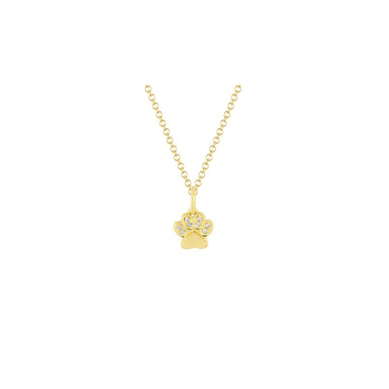 EF Collection Diamond Paw Necklace