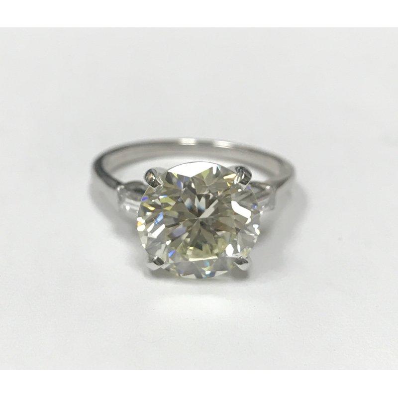 Antique, Estate & Consignment 4.44 Carat Diamond Engagement Ring
