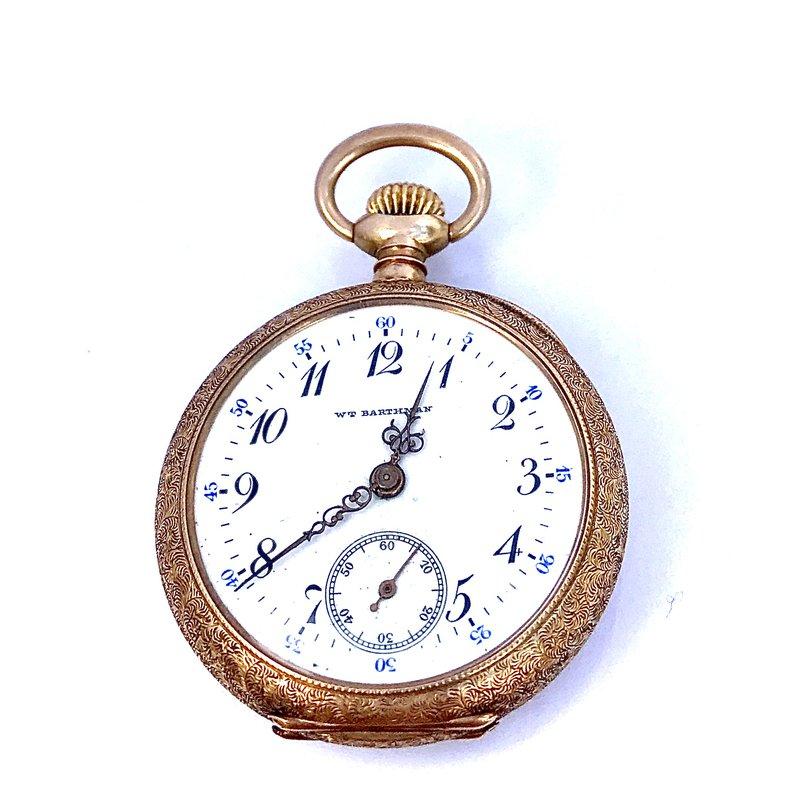 Antique, Estate & Consignment WT Barthman 14k Pocket Watch