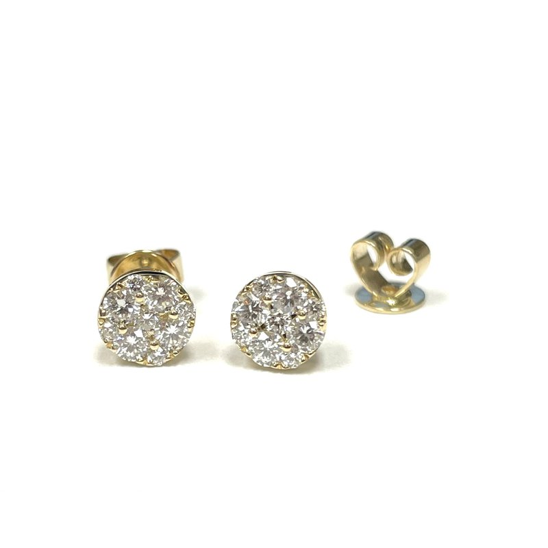 Hurdle's Jewelry Collection Diamond Cluster Earrings