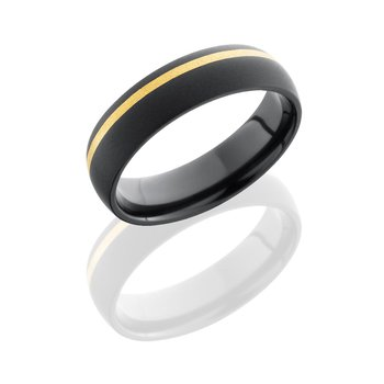 Zirconium & Yellow Gold Band