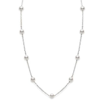 Mikimoto Pearl Station Necklace