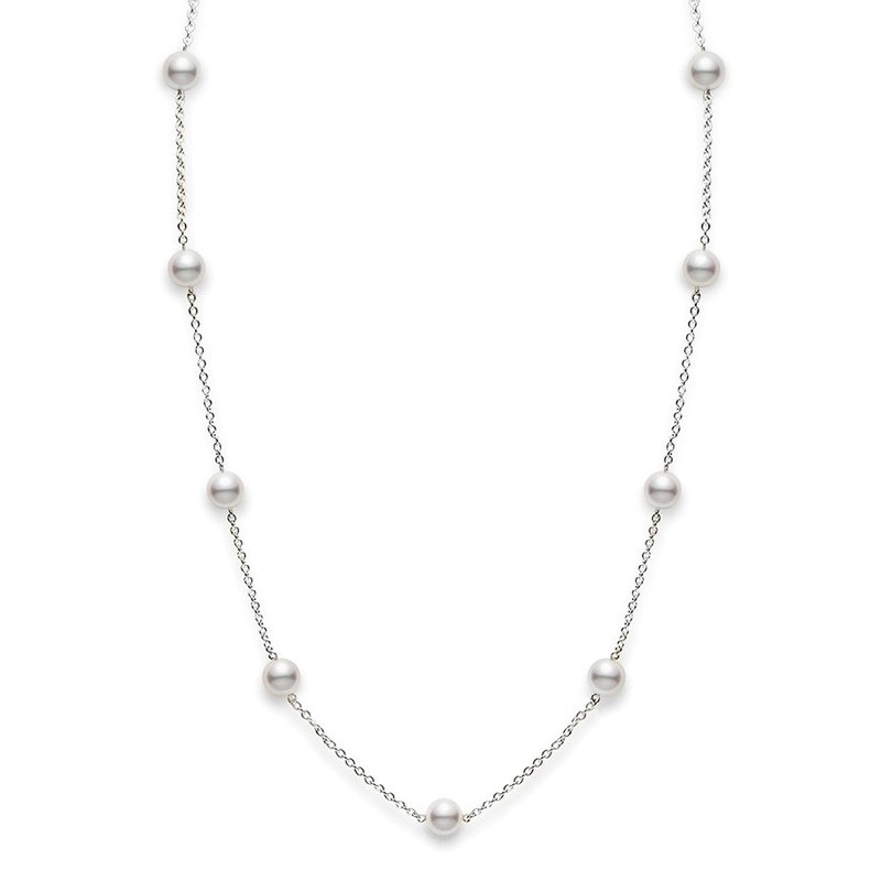 Antique, Estate & Consignment Mikimoto Pearl Station Necklace