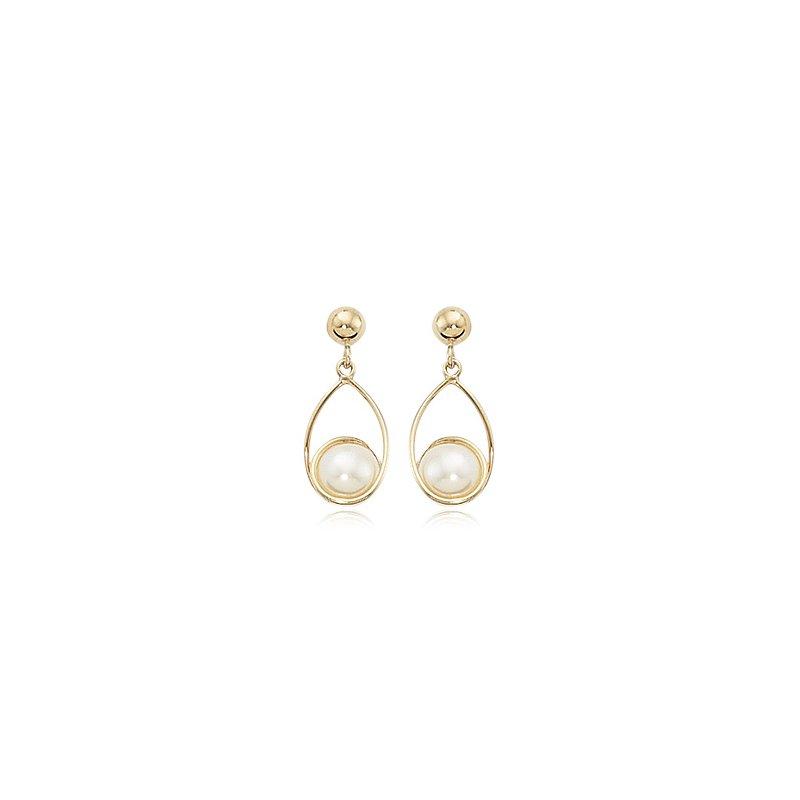 Carla Nancy B Pearl Swirl Earrings
