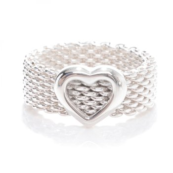 Tiffany & Co. Stamped Heart Mesh Ring