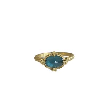 One of a Kind Aqua Ring