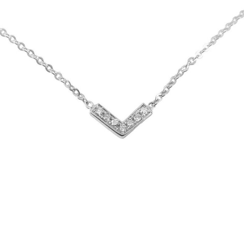 Jennie Kwon Diamond V Necklace