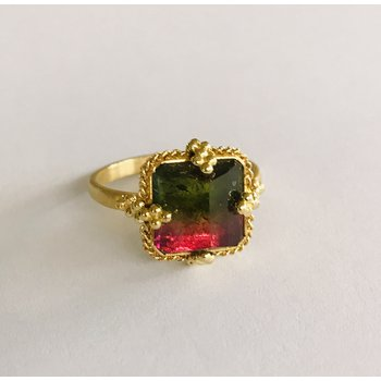 One of a Kind Watermelon Tourmaline Ring