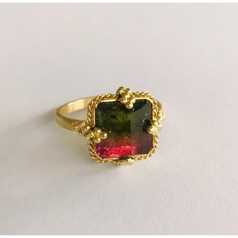 Amali One of a Kind Watermelon Tourmaline Ring