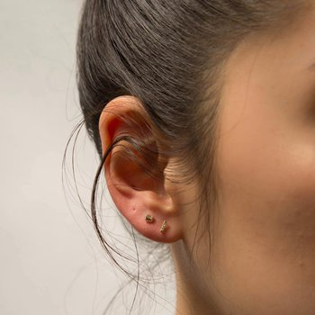 White Equilibrium Stud Earrings