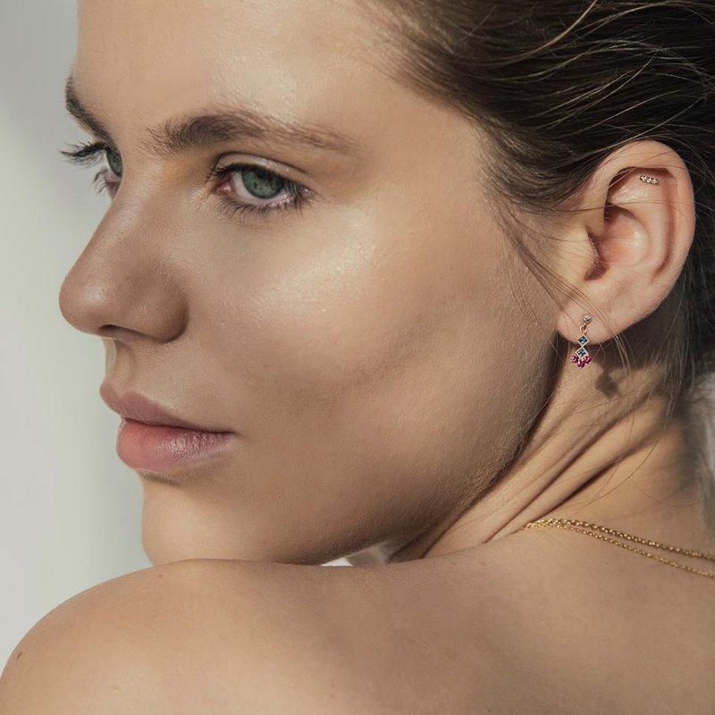 Jennie Kwon White Equilibrium Stud Earrings