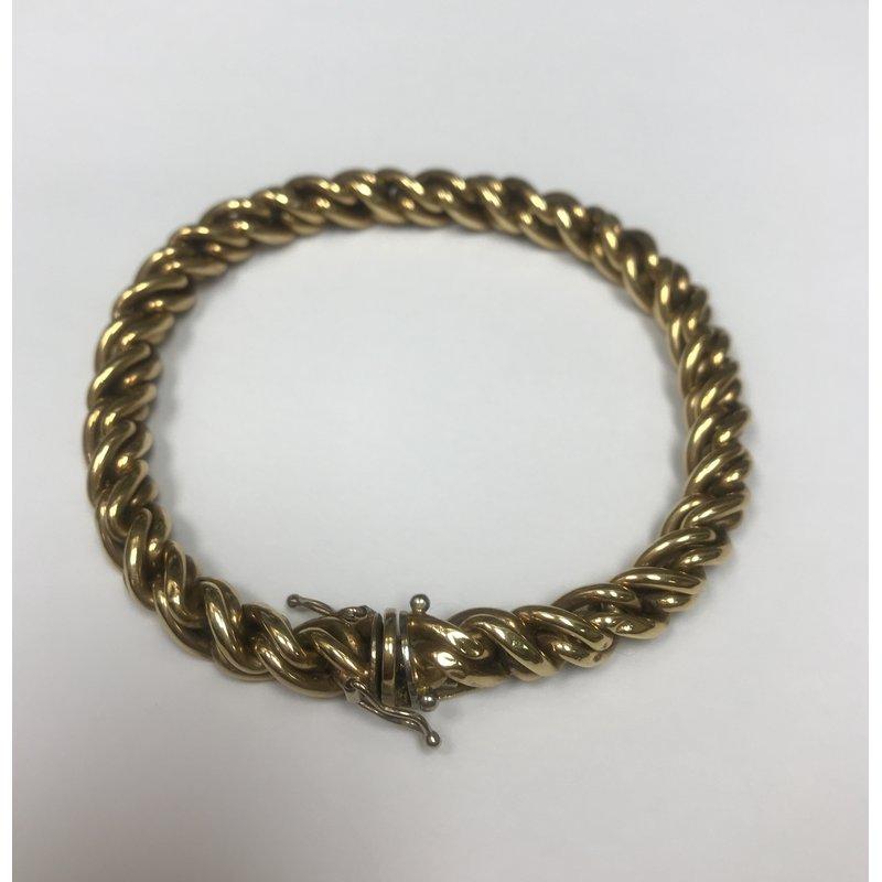 Antique, Estate & Consignment Twisted Link Gold Bracelet