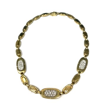 Gold Link Diamond Necklace
