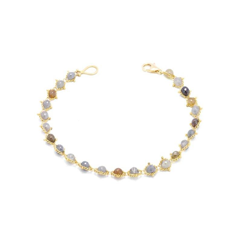 Amali Multi-Colored Diamond Textile Bracelet