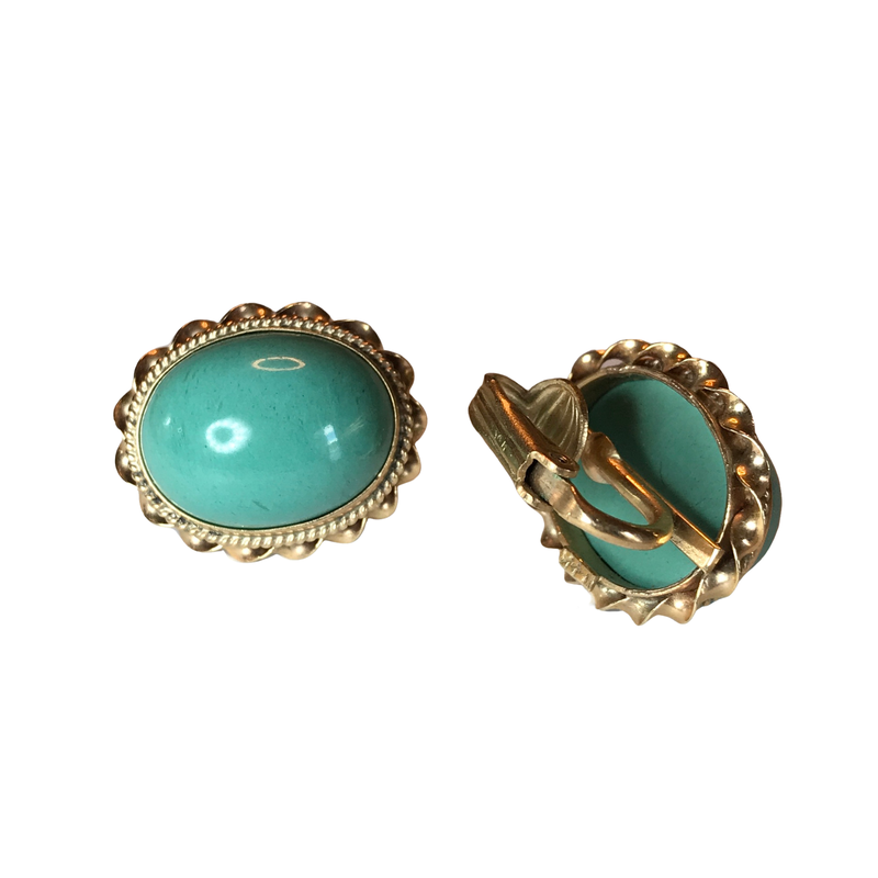 Antique, Estate & Consignment Turquoise Non-Pierced Earrings