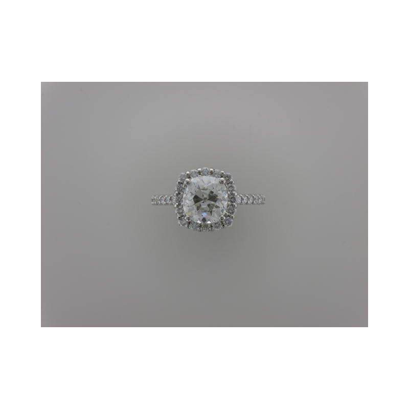Hurdle's Custom Designs Old Mine Cut Diamond Engagement Ring