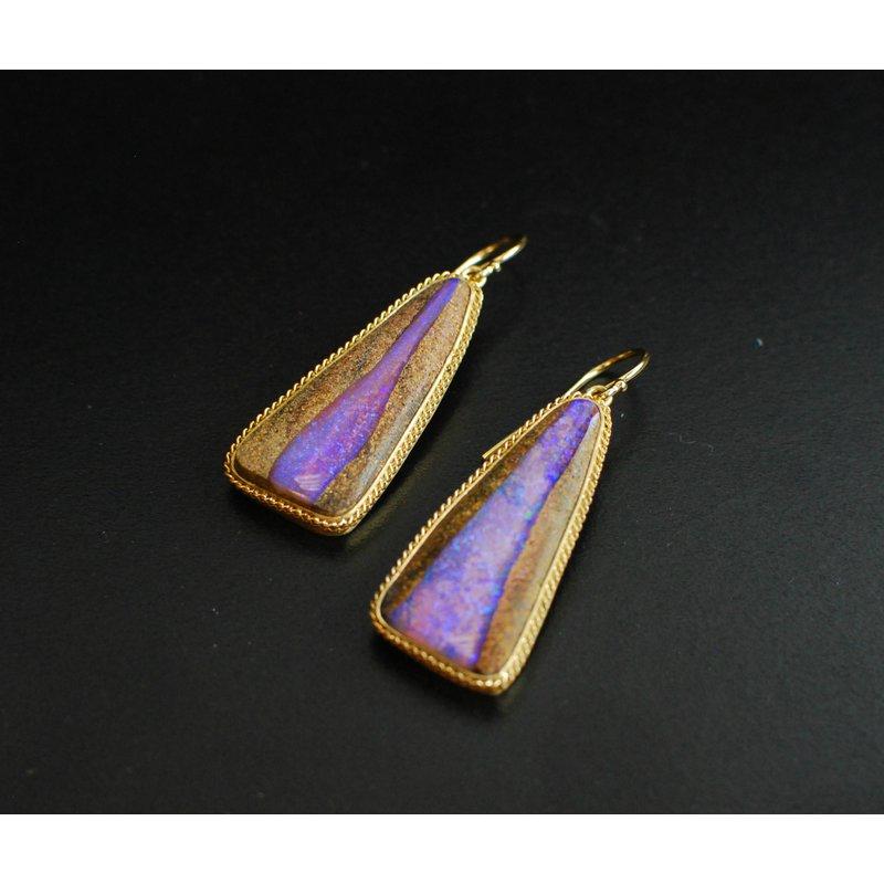 Amali Opalized Wood Earrings
