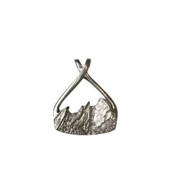 Flatiron Pendant Silver Large
