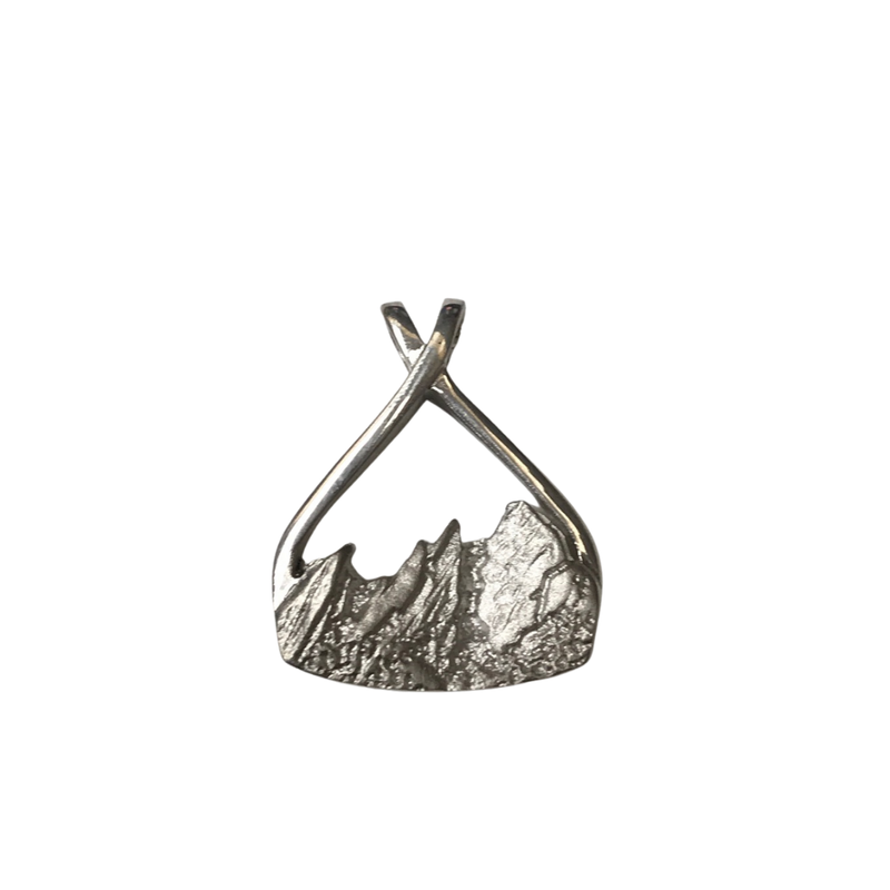 Hurdle's Jewelry Collection Flatiron Pendant Silver Large