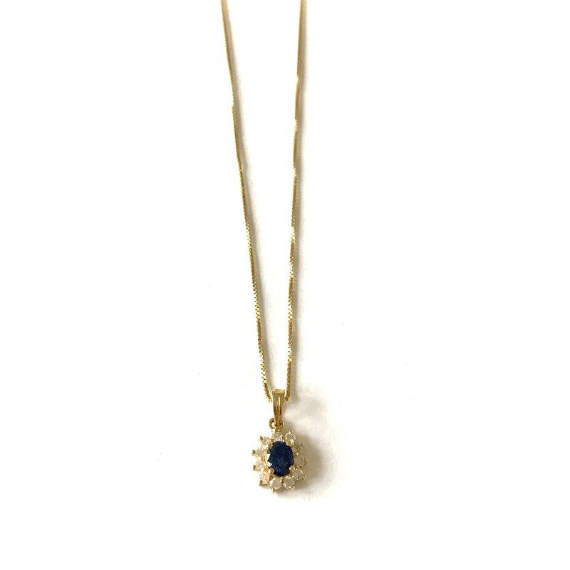 Antique, Estate & Consignment Sapphire & Diamond Necklace