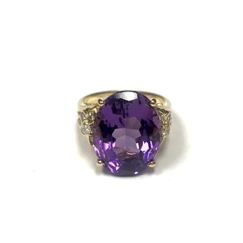 18k Gold Amethyst Ring
