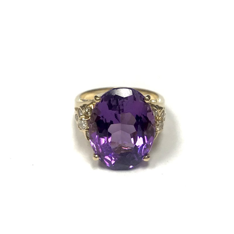 Antique, Estate & Consignment 18k Gold Amethyst Ring